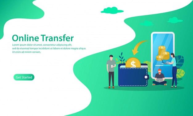 Illustration du concept de transfert en ligne