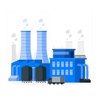 Illustration du concept d'usine