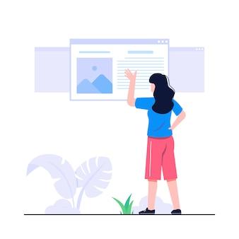 Illustration du concept windows