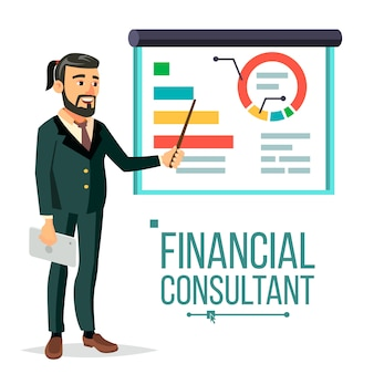 Illustration du consultant financier