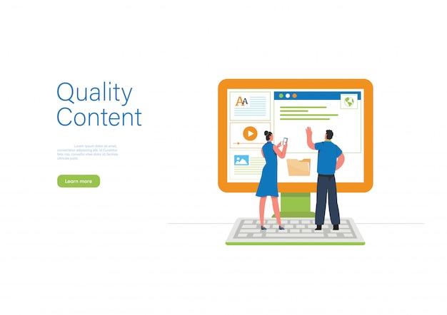 Illustration du contenu engageant