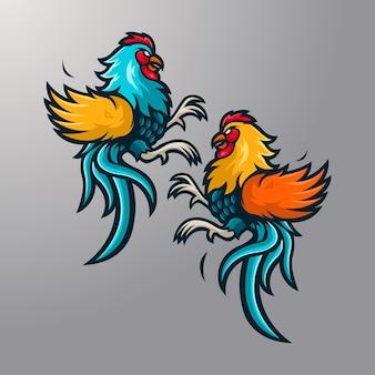 Illustration du coq de combat
