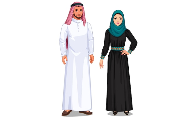 Illustration du couple arabe