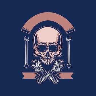 Illustration du crâne avec une clé