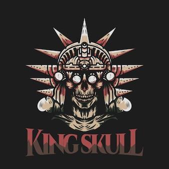 Illustration du crâne du roi de la liberté