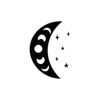 Illustration du croissant de lune céleste