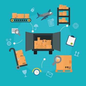 Illustration du design de livraison