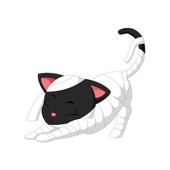 Illustration du dessin animé de chaton halloween