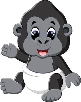 Illustration du dessin animé drôle de gorille