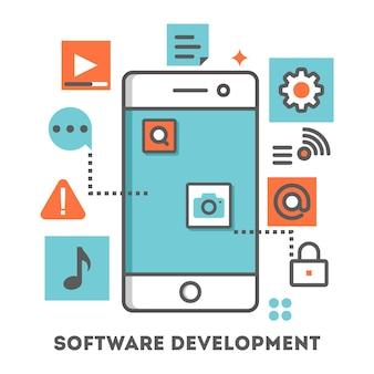 Illustration du développement d'une application mobile