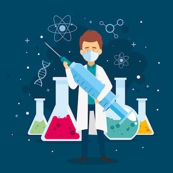 Illustration du développement d'un vaccin