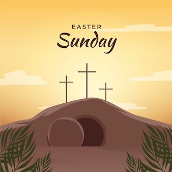 Illustration du dimanche de pâques