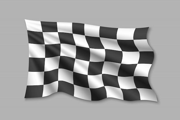 Illustration du drapeau à damier