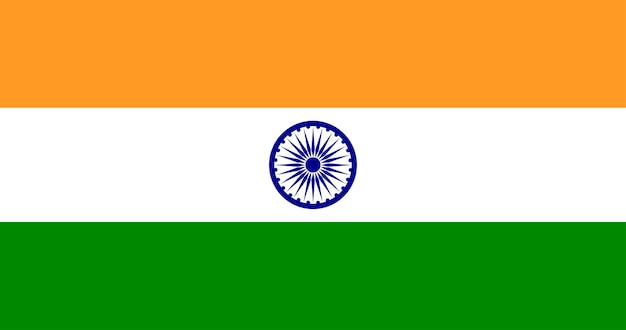 Illustration du drapeau de l'inde