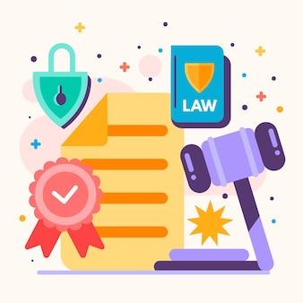 Illustration du droit d'auteur sur les brevets