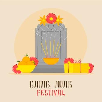 Illustration du festival ching ming dessiné à la main