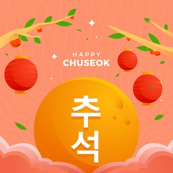 Illustration du festival de chuseok