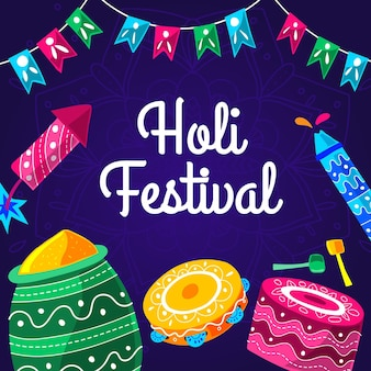 Illustration du festival holi