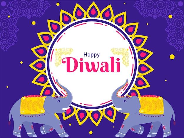 Illustration du festival indien happy diwali concept
