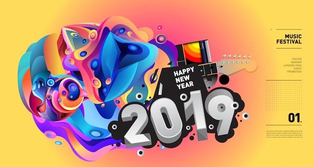 Illustration du festival de musique du nouvel an 2019