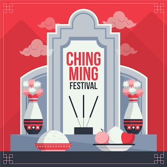 Illustration du festival plat ching ming