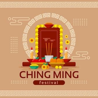 Illustration du festival plat ching ming