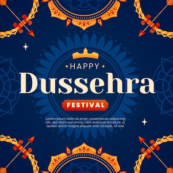 Illustration du festival plat dussehra