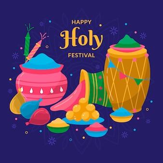 Illustration du festival plat holi