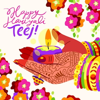 Illustration du festival teej dessinés à la main