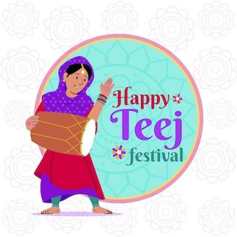 Illustration du festival teej