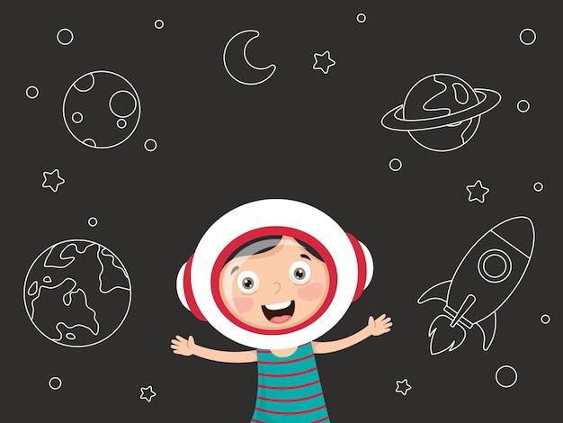 Illustration du fond de l'espace