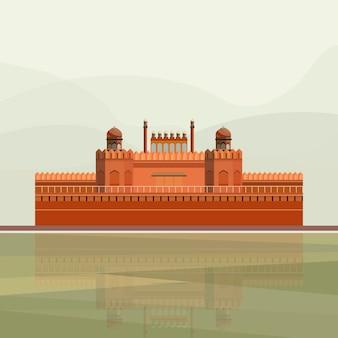 Illustration du Fort Rouge