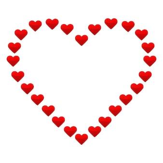 Illustration du grand coeur avec de petits coeurs rouges