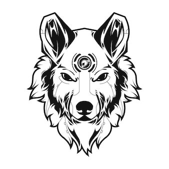 Illustration du grand loup et tshirt