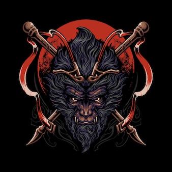 L'illustration du grand roi singe