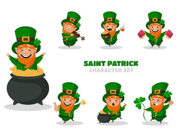 Illustration du jeu de caractères de saint patrick