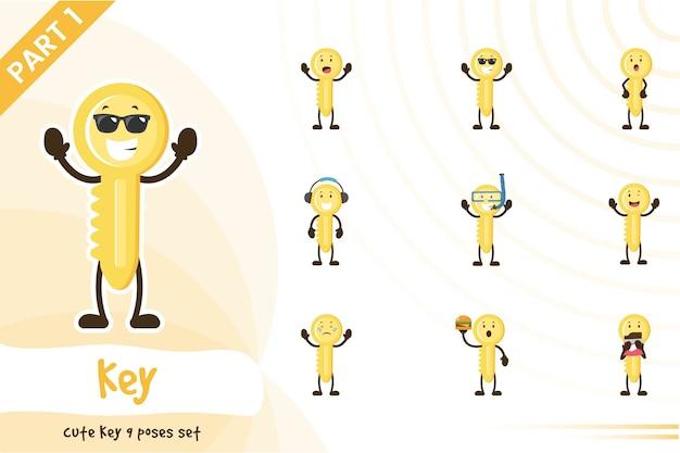 Illustration du jeu de clés mignon