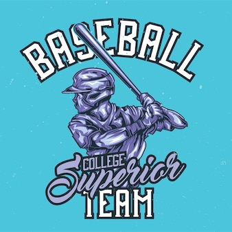 Illustration Du Joueur De Baseball Vecteur gratuit