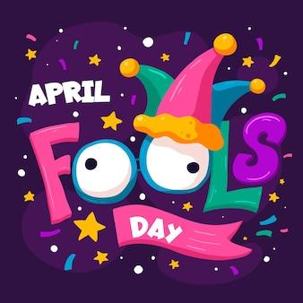 Illustration Du Jour Du Poisson D'avril Dessiné à La Main Vecteur gratuit