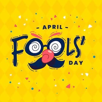 Illustration du jour du poisson d'avril dessiné à la main