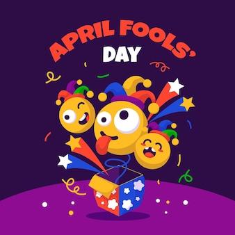 Illustration Du Jour Du Poisson D'avril Plat Vecteur gratuit