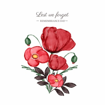 Illustration du jour du souvenir aquarelle