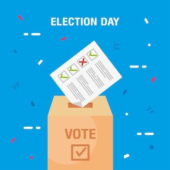 Illustration du jour de l'élection