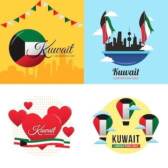 Illustration du jour de la libération du koweït