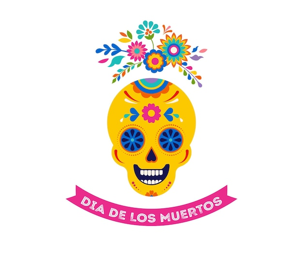 Illustration du jour des morts dia de los muertos