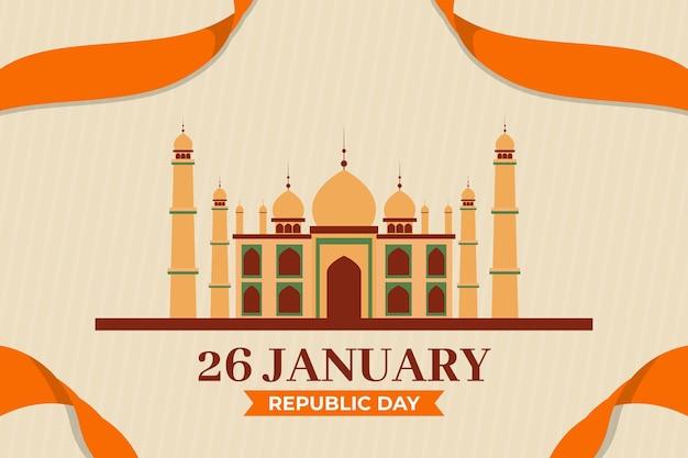 Illustration du jour de la république plat taj mahal