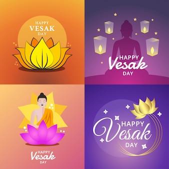 Illustration du joyeux jour de vesak