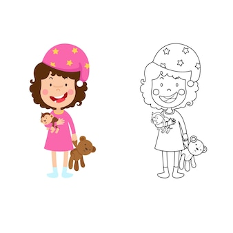 Illustration du livre de coloriage éducatif