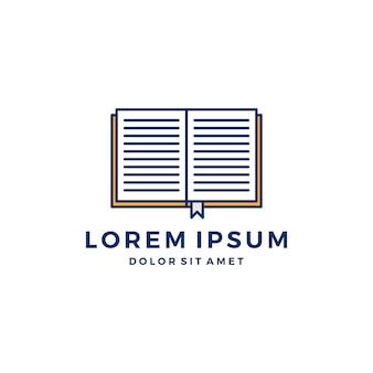 Illustration du livre logo vector icon