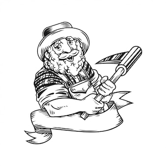 L'illustration du logo de l'agriculteur